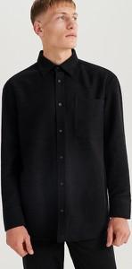 Koszula Reserved z weluru z długim rękawem z klasycznym kołnierzykiem