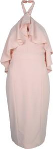 Różowa sukienka Guess z tkaniny