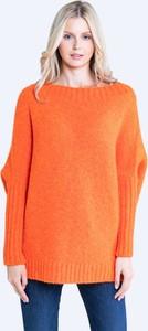 Pomarańczowy sweter Big Star w stylu casual