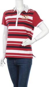Czerwony t-shirt Galvanni z krótkim rękawem z okrągłym dekoltem