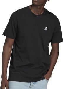 Czarny t-shirt Adidas w stylu casual z krótkim rękawem