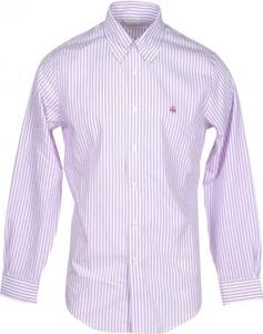Różowa koszula Brooks Brothers z klasycznym kołnierzykiem z długim rękawem