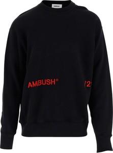 Czarny sweter Ambush w młodzieżowym stylu z wełny z okrągłym dekoltem