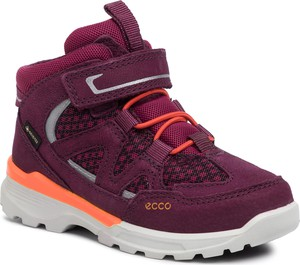 Fioletowe buty dziecięce zimowe Ecco z nubuku