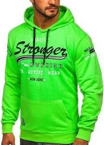 Zielona bluza Denley w młodzieżowym stylu z bawełny