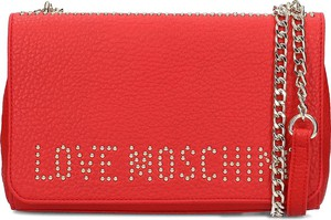 Torebka Love Moschino mała w stylu glamour ze skóry ekologicznej