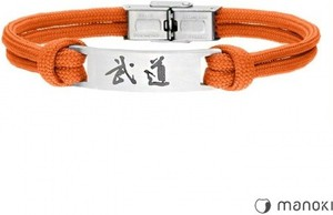 Manoki BA711P pomarańczowa bransoleta BUDO