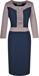 Sukienka Fokus ołówkowa z długim rękawem midi