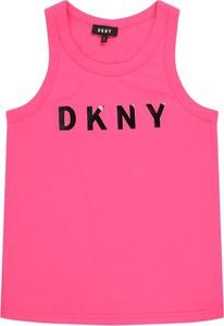 Bluzka dziecięca DKNY na ramiączkach