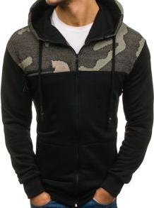 Czarna bluza denley w street stylu