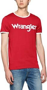 Czerwony t-shirt wrangler