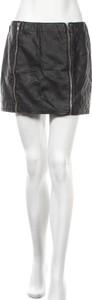 Czarna spódnica H&M mini ze skóry