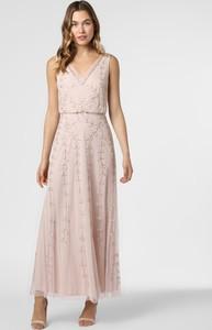 Różowa sukienka Hailey Logan z dekoltem w kształcie litery v bez rękawów maxi