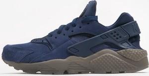 Niebieskie buty sportowe Nike huarache sznurowane