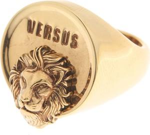 7b058b25bb07b Versace Pierścionek dla Mężczyzn, antyczny złoty, Mosiądz, 2019, L M S