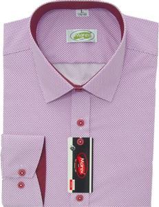 Różowa koszula Marex Łódź z długim rękawem