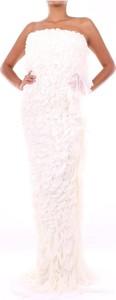 Różowa sukienka Alberta Ferretti bez rękawów maxi