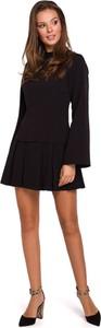 Sukienka Merg z długim rękawem mini rozkloszowana