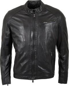Czarna kurtka Saki ze skóry krótka w stylu casual