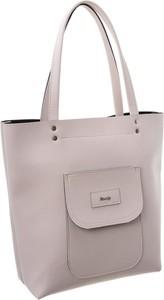 Różowa torebka Rovicky ze skóry ekologicznej w wakacyjnym stylu