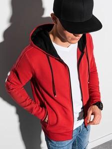 Czerwona bluza Ombre z bawełny