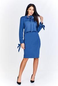 Sukienka Bien Fashion z żabotem midi