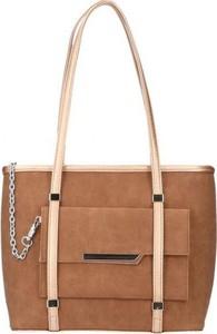 Torebka Chiara Design duża w stylu glamour na ramię
