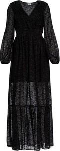 Czarna sukienka Liu Jo White kopertowa w stylu casual maxi