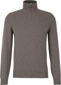 Brązowy sweter Fedeli w stylu casual z dzianiny