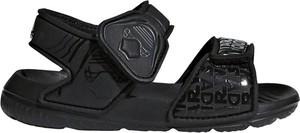acf597a341b95 Czarne buty dziecięce letnie Adidas Performance na rzepy