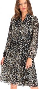 Sukienka L'AF z tkaniny w stylu casual z długim rękawem