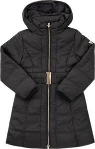Czarny płaszcz dziecięcy Guess