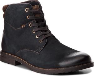 Granatowe buty zimowe Lasocki For Men z nubuku