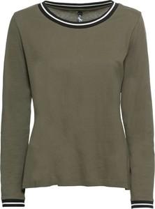 Zielona bluzka bonprix RAINBOW w stylu casual z długim rękawem