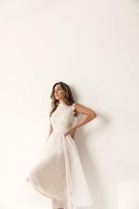 Sukienka Lorenzo z golfem trapezowa
