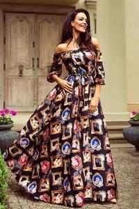 Sukienka Ivet.pl w stylu casual maxi z długim rękawem