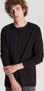 Czarna koszulka z długim rękawem Cropp w stylu casual z długim rękawem