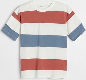 Koszulka dziecięca Reserved w paseczki z bawełny
