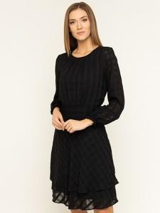 Sukienka DKNY w stylu casual z długim rękawem rozkloszowana