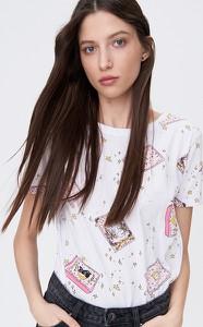 T-shirt Sinsay z krótkim rękawem z okrągłym dekoltem