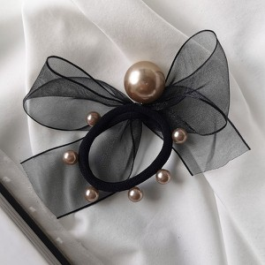 Vezzi Gumka imitacja pereł,kolor czarny O2V90011-2