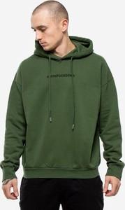 Zielona bluza Comme Des Fuckdown z żakardu