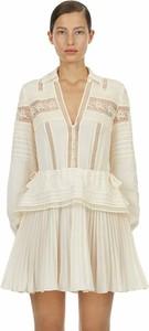 Sukienka Self Portrait w stylu casual mini z dekoltem w kształcie litery v