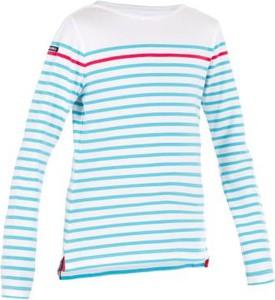 Miętowa koszulka dziecięca Tribord z długim rękawem