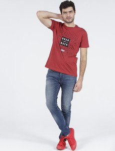 Czerwony t-shirt Cross Jeans
