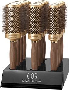 Zestaw szczotek Olivia Garden Nano Thermic 12 sztuk + display