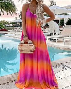 Sukienka Kendallme maxi z dekoltem w kształcie litery v na ramiączkach