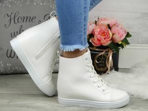 Sneakersy sklep-szpilka24 na koturnie na zamek