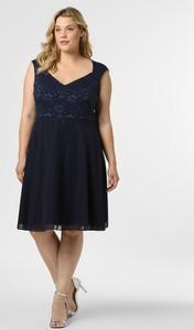 Granatowa sukienka Swing Curve bez rękawów