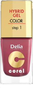 Delia Cosmetics, Coral Hybrid Gel, emalia do paznokci nr 18 marsala, 11 ml